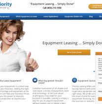 PriorityLeasing.net Wordpress Website with Live Chat and Quotation Forms