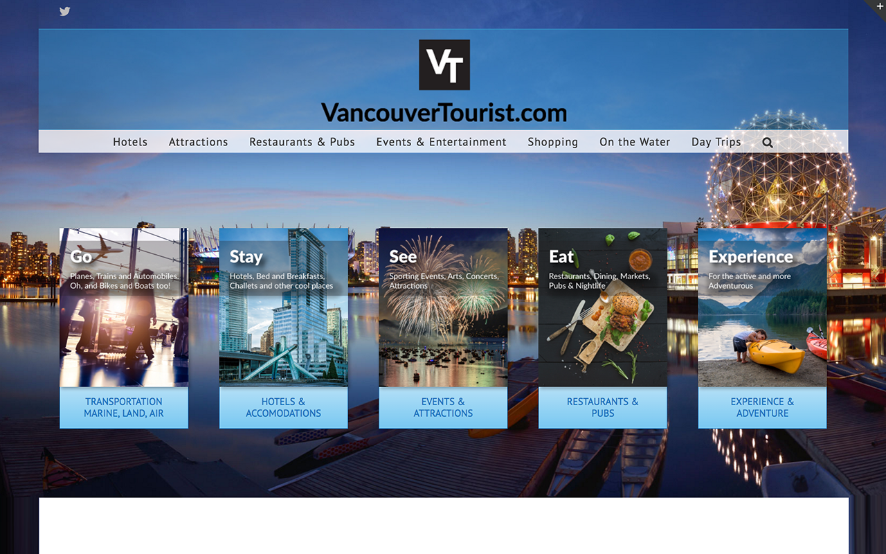 Vancouvertourist Example Of Tourism Websites