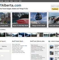 BanffAlberta.com Portal Website for Banff Alberta Canada
