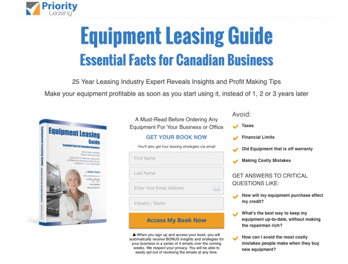 Leanding Page with eBook and Sales Funnel