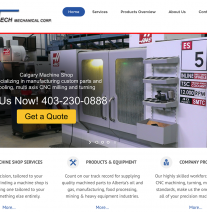 Herma-Tech-Industrial Machine Shop Website