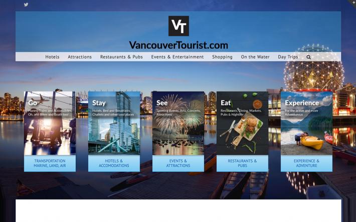 VancouverTourist.com - Example of Tourism Websites
